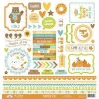 Doodlebug Design - Pumpkin Spice Collection - 12 x 12 Cardstock Stickers - This and That