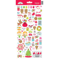 Doodlebug Design - Night Before Christmas Collection - Icon Stickers