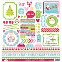 Doodlebug Design - Night Before Christmas Collection - 12 x 12 Cardstock Sticker - This and That