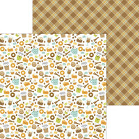 Doodlebug Design - Pumpkin Spice Collection - 12 x 12 Double Sided Paper - Pumpkin Spice