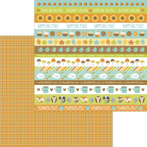 Doodlebug Design - Pumpkin Spice Collection - 12 x 12 Double Sided Paper - Autumn Weave