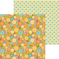 Doodlebug Design - Pumpkin Spice Collection - 12 x 12 Double Sided Paper - Sunflower Fields