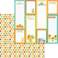 Doodlebug Design - Pumpkin Spice Collection - 12 x 12 Double Sided Paper - Harvest Berries