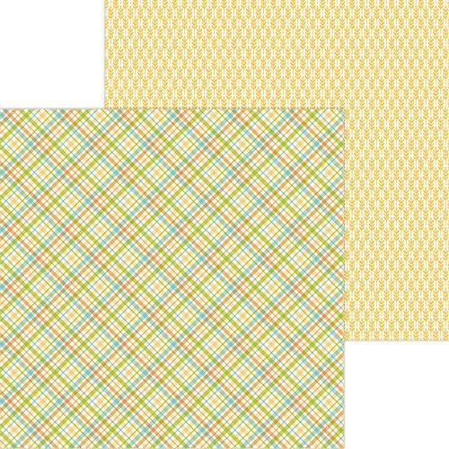 Doodlebug Design - Pumpkin Spice Collection - 12 x 12 Double Sided Paper - Tea Towel