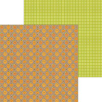 Doodlebug Design - Pumpkin Spice Collection - 12 x 12 Double Sided Paper - Pumpkin Chocolate Chip