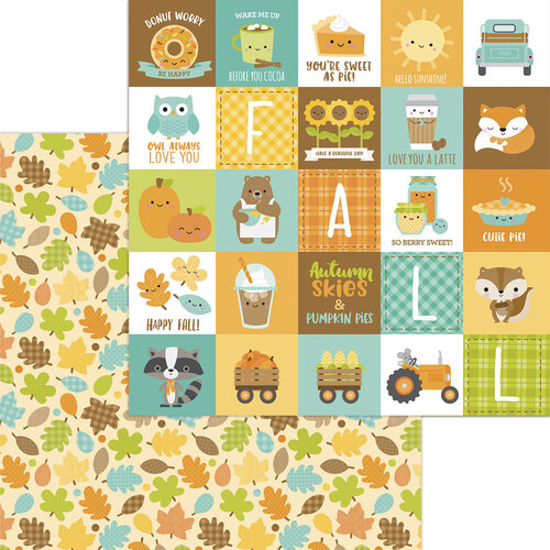 Doodlebug Design - Pumpkin Spice Collection - 12 x 12 Double Sided Paper - Unbe-leaf-able