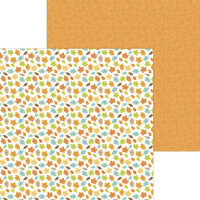 Doodlebug Design - Pumpkin Spice Collection - 12 x 12 Double Sided Paper - Happy Fall