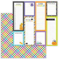 Doodlebug Design - Ghost Town Collection - 12 x 12 Double Sided Paper - Boo-Tique Plaid