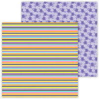 Doodlebug Design - Ghost Town Collection - 12 x 12 Double Sided Paper - Candy Sticks