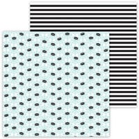 Doodlebug Design - Ghost Town Collection - 12 x 12 Double Sided Paper - Spunky Spiders