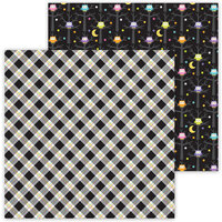 Doodlebug Design - Ghost Town Collection - 12 x 12 Double Sided Paper - Hocus Pocus Plaid