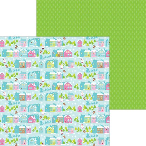 Doodlebug Design - Night Before Christmas Collection - 12 x 12 Double Sided Paper - Night Before Christmas