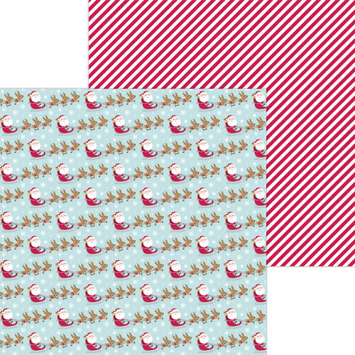 Doodlebug Design - Night Before Christmas Collection - 12 x 12 Double Sided Paper - Dash Away
