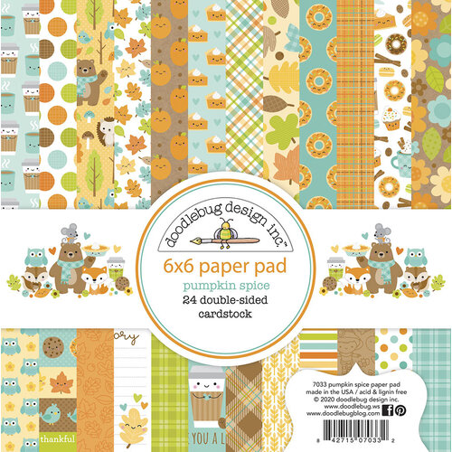 Doodlebug Design - Pumpkin Spice Collection - 6 x 6 Paper Pad