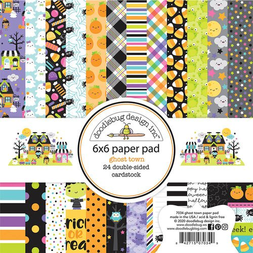 Doodlebug Design - Ghost Town Collection - 6 x 6 Paper Pad