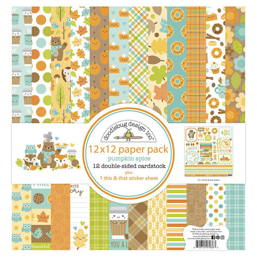Doodlebug Design - Pumpkin Spice Collection - 12 x 12 Paper Pack
