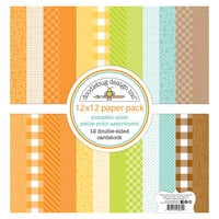 Doodlebug Design - Pumpkin Spice Collection - 12 x 12 Paper Pack - Petite Print