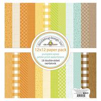 Doodlebug Design - Pumpkin Spice Collection - 12 x 12 Paper Pack - Petite Print