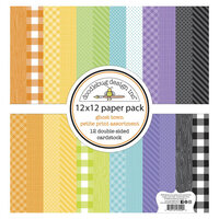 Doodlebug Design - Ghost Town Collection - 12 x 12 Petite Print Assortment Pack