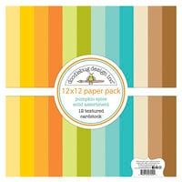 Doodlebug Design - Pumpkin Spice Collection - 12 x 12 Textured Cardstock Assortment Pack