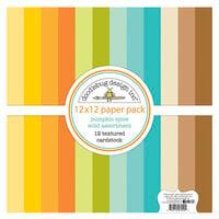 Doodlebug Design - Pumpkin Spice Collection - 12 x 12 Textured Cardstock Assortment Pack