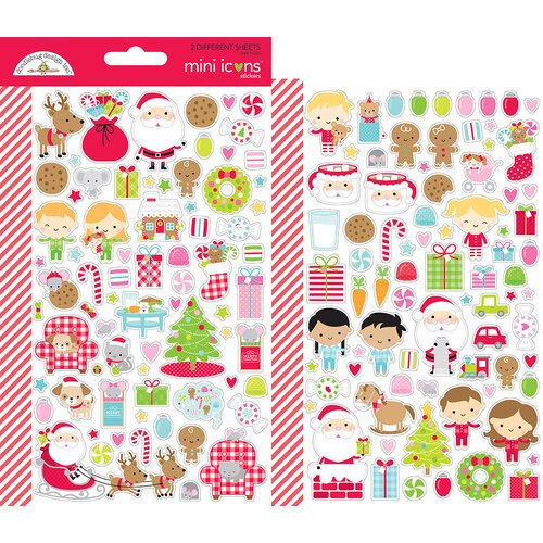 Doodlebug Design - Night Before Christmas Collection - Mini Icons