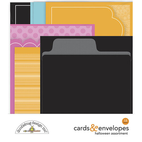 Doodlebug Design - Ghost Town Collection - Cards and Envelopes