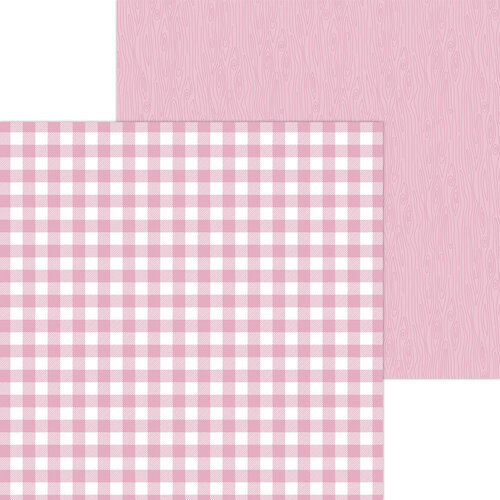 Doodlebug Design - Monochromatic Collection - 12 x 12 Double Sided Paper - Cupcake Buffalo Check