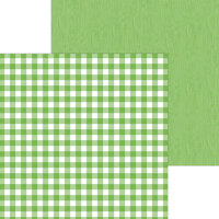 Doodlebug Design - Monochromatic Collection - 12 x 12 Double Sided Paper - Grasshopper Buffalo Check