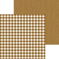 Doodlebug Design - Monochromatic Collection - 12 x 12 Double Sided Paper - Bon Bon Buffalo Check