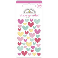 Doodlebug Design - Made With Love Collection - Self Adhesive Shape Sprinkles - With All My Heart