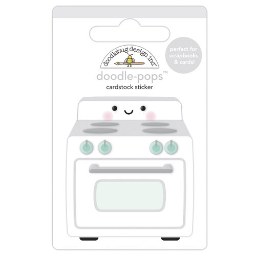 Doodlebug Design - Made With Love Collection - Doodle-Pops - 3 Dimensional Stickers - What's Cooking'