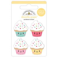 Doodlebug Design - Made With Love Collection - Doodle-Pops - 3 Dimensional Stickers - Baby Cakes