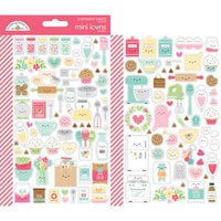 Doodlebug Design - Made With Love Collection - Cardstock Stickers - Mini Icons