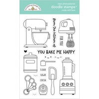 Doodlebug Design - Made With Love Collection - Clear Photopolymer Stamps - Made With Love