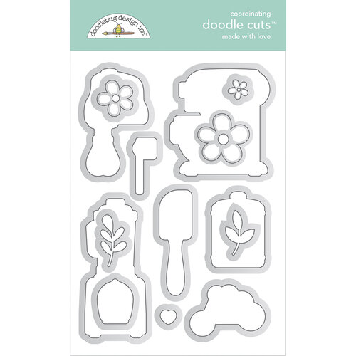 Doodlebug Design - Made With Love Collection - Doodle Cuts - Dies - Made With Love