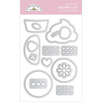 Doodlebug Design - Made With Love Collection - Doodle Cuts - Dies - You Bake Me Happy