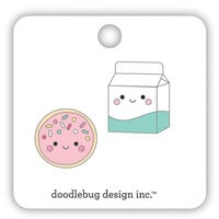 Doodlebug Design - Made With Love Collection - Collectible Pins - Cookies and Cream