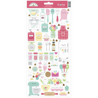 Doodlebug Design - Made With Love Collection - Cardstock Stickers - Icons
