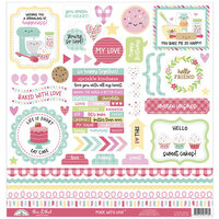 Doodlebug Design - Made With Love Collection - 12 x 12 Cardstock Stickers - This and That