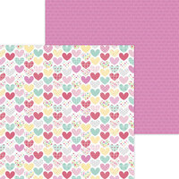 Doodlebug Design - Made With Love Collection - 12 x 12 Double Sided Paper - Heartwarmer