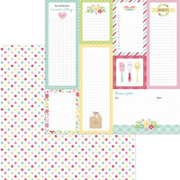 Doodlebug Design - Made With Love Collection - 12 x 12 Double Sided Paper - Sugar Sprinkles