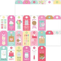 Doodlebug Design - Made With Love Collection - 12 x 12 Double Sided Paper - Treat Tags