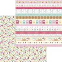 Doodlebug Design - Made With Love Collection - 12 x 12 Double Sided Paper - Flour and Sugar