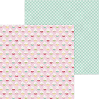 Doodlebug Design - Made With Love Collection - 12 x 12 Double Sided Paper - Cupcake Cuties