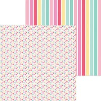 Doodlebug Design - Made With Love Collection - 12 x 12 Double Sided Paper - Apron Strings