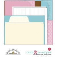 Doodlebug Design - Made With Love Collection - Cards and Envelopes