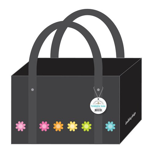 Doodlebug Design - Monochromatic Collection - Daisies Foldable Tote