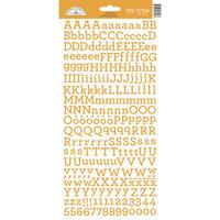 Doodlebug Design - Alphabet Cardstock Stickers - My Type - Tangerine
