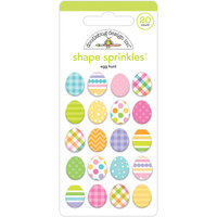 Doodlebug Design - Hippity Hoppity Collection - Sprinkles - Egg Hunt Shape